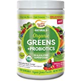 Healthy Delights Naturals, Organic Greens + Probiotics Powder, Naturally Boost Energy, USDA Organic, Delicious Berry Flavored