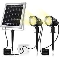 MEIKEE 改良版 ソーラー ガーデンライト スポットライト電球色 昼白色 昼光色 led 屋外 分離式 光センサー…