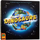 Pandasaurus Games Gods Love Dinosaurs - A Competitive Strategy Board Game of Food Chain Hierarchy - Family-Friendly Board Gam