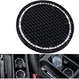 DBlosp Universal Vehicle Bling Cup Holder Insert Coaster Car Interior Accessories-2.75 inch Silicone Anti Slip Crystal Rhines