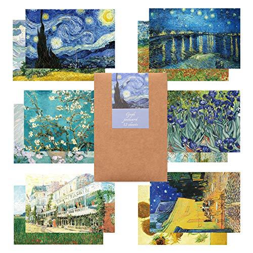 Monolike ゴッホ 葉書 はがき ポストカード セット Gogh postcard set 12pack 12セット