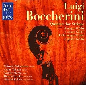 ボッケリーニ : 弦楽五重奏曲集 (Luigi Bocherini : Quintets for Strings ~ A major G316 | c minor G314 | E-flat major G304 | g minor G318 / Natsumi Wakamatsu, Azumi Takada, Yoshiko Morita, Hidemi Suzuki, Takashi Kaketa)