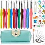 かぎ針セット 12本編み針 レース針 手芸 編み物 37点セット 毛糸 DIY 工具 ケース付き 手作り