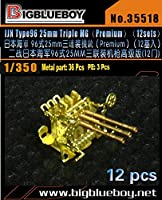 1/350 日本海軍 九六式25mm三連装機銃 (プレミアム)