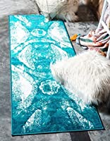 Unique Loom Sofia Collection Turquoise 2 x 7 Runner Area Rug (2' x 6' 7) [並行輸入品]