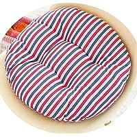 女の子の心の椅子のクッションクッションクッション学生の教室かわいいおならパッド厚い畳座クッションブースターパッド,赤と青のストライプ,50x50cm [スリップバージョンの厚]