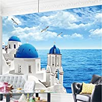 Sproud カスタムの壁紙高品質ベッドルームソファギリシャエーゲ海地中海の壁画壁紙絵画モダンな 350 Cmx 245 Cm