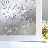 Niviy Etched Lace Window Film Static Window Cling Glass Door Decals Frosted Glass Window Clings for Privacy 17.7 by 78.7 Inches by Niviy