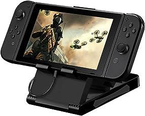 LANIAKEA Nintendo Switch 任天堂プレイスタンド Switch充電ホルダー 角度調節可能 ニンテンドースイッチ用 iPad・スマホ適用