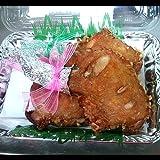 福岡県産地鶏+秘伝のタレで味付けした唐揚げ用味付け 特大丸ごとモモ身 2本 (冷凍便)   (黒毛和牛と手づくり惣菜 やまだ屋)