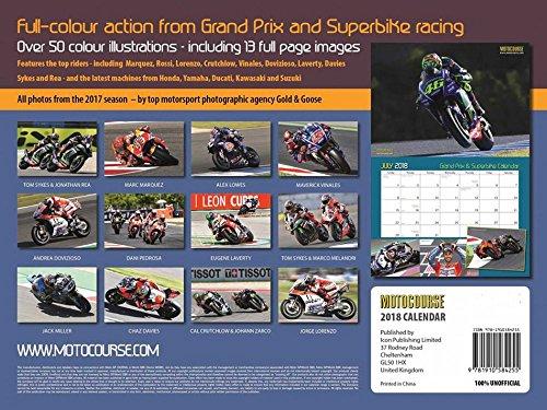 【 MOTO GP 】 モトGP&スーパーバイク 2018年 カレンダー 壁掛け用