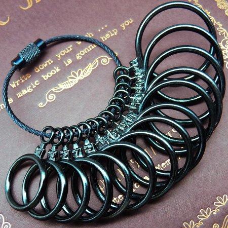 スワンユニオン サイズゲージ リングゲージ 指輪ゲージ 指輪のサイズが測れます 1号~27号 全14サイズ測定可能 青 ブルー sg5-fba-a