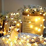 SFOUR フェアリーライト電飾led イルミネーションライト 6M40個LED 電池式 クリスマス 飾りツリー led電球庭 ライト屋外防水イルミ室内枕元 ライト ledに適してベッドルーム|アウトドア|結婚式|庭対応|誕生日 (ウォームホワイト)