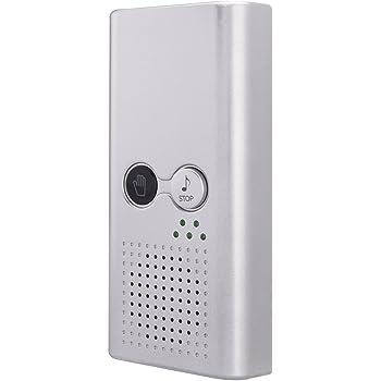 AGPTEK トイレ消音器 流水音発生器 音消し 擬音装置 節水 衛生 ECOメロディー 壁付け/乾電池タイプ TS11 シルバー