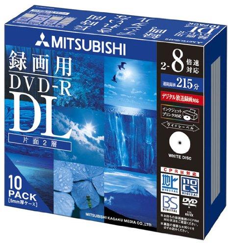 三菱ケミカルメディア Verbatim 1回録画用 DVD-R DL VHR21HDSP10  (片面2層/2-8倍速/10枚)