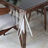 Walrus Clear Vinyl Tablecloth Protector Waterproof/Oil-Proof Plastic Transparent Table Cover 54X102 Inch