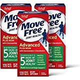 Glucosamine & Chondroitin Plus MSM Advanced Joint Health Supplement Tablets, Move Free (120 Count In A Box) (3 Pack Case), Supports Mobility, Flexibility, Strength, Lubrication and Comfort*