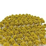 森林 選べる 色 数量 50本 100本 【DauStage】 Nゲージ ジオラマ 鉄道 建築 模型 用 樹木 風景 3㎝ (06,黄色 50本)