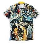 1stモール 【 16種類 4サイズ 】 3D プリント アート Tシャツ 前衛芸術 美術 クレイジー おもしろ XLサイズ 【 タイプ05 】 ST-ARTTT-05-XL