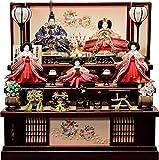 雛人形 ひな人形 久月 収納三段飾り 五人飾り 間口70×奥行69×高さ71㎝