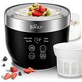 Yogurt Maker, Yogurt Maker Machine with Stainless Steel Inner Pot, Greek Yogurt Maker with Timer Control, Automatic Digital F