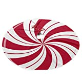 NGFF Mint Sugar Double Swirl Candy Traditional Christmas Tree Skirt Santa & Reindeer Tree Ornaments Tree Skirt for Christmas