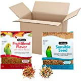 ZuPreem FruitBlend Flavor Pellets & Sensible Seed for Small Birds, 4 Lbs. Total - Essential Nutrition & Enriching Variety Bun