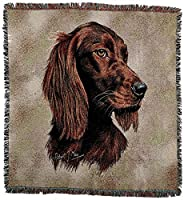 Pure Country 1140-LS Irish Set Pet Blanket, Canine on Beige Background, 54 by 54-Inch [並行輸入品]