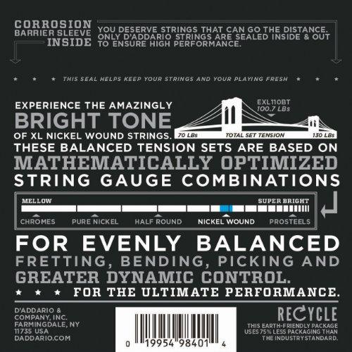 D'Addario ダダリオ エレキギター弦 ニッケル バランスドテンション Regular Light .010-.046 EXL110BT 【国内正規品】