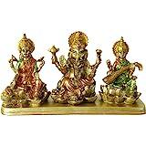 BangBangDa Hinduism Lakshmi Ganesha Saraswati Statue - Hindu Laxmi Ganesh Home Temple Pooja Mandir - Indian Murti Puja Decora