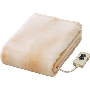 Sugiyama 電気ボアしき毛布 ロングサイズ(水洗い可)ベージュ NA-08SL(BE)