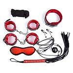 PBONL 8 pcs Tactical Restraint Handcuffs Ankle Cuffs Bracelet Kits