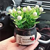 BabYoung Car Accessories Interior Supplies Decoration Car Aromatherapy Car Creative Deer Decorations Cute Potted Plant (Plant