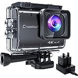 【進化版4K/50FPS】Crosstourアクションカメラ 4K 20MP解像度 Wi-Fi 40M防水 水中カメラ…