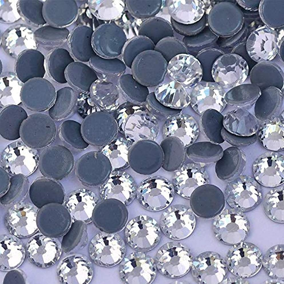 包括的人里離れた単調なWTX ガラス製 ラインストーン 高品質 1440粒 SS4~SS30 Hotfix ホットフィックスラインストーン (SS10(約2.7-2.9mm、1440粒), クリスタル)