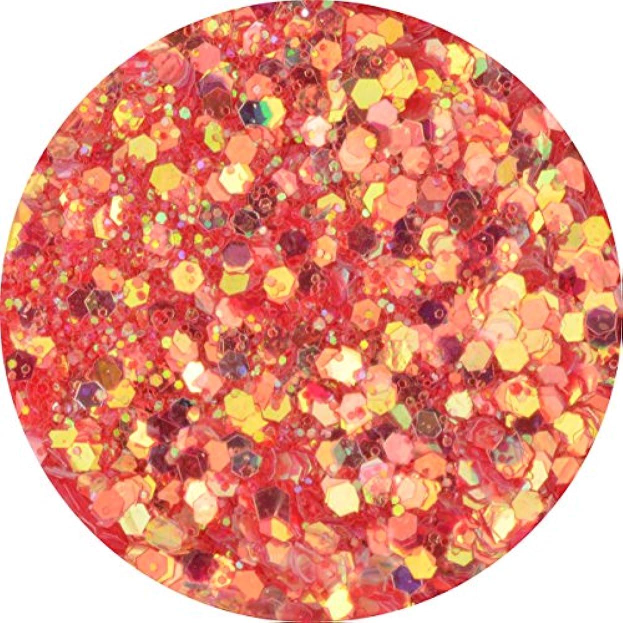 輝度テナント気を散らすラメホロ ミックス [ラメ&ホログラム1mm]mix 選べる12色 (01.レッド)