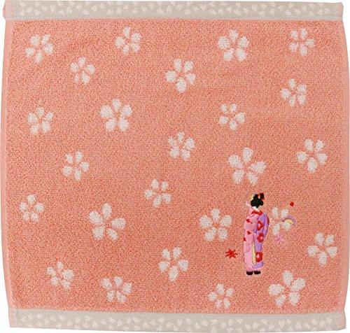 京佑 和雑貨 タオルハンカチ 青々庵刺繍 舞妓ピンク 25....