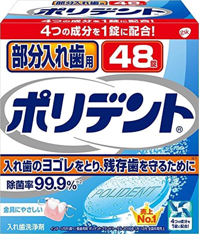 はねかける疾患高揚した入れ歯洗浄剤 部分入れ歯用 ポリデント 48錠