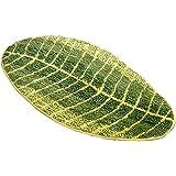 ZebraSmile Green Leaf Bath Rug Microfiber Home Inside Door Mat Entry Doormat Front Carpet for Bathroom Indoor Mat Non Slip Ba