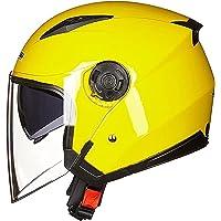 半帽ヘルメット ジェットヘルメット ハーフヘルメット 原付 メンズ レディース ダブルシールド 超軽量 紫外線防止 男女…