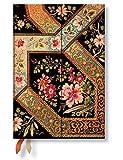 Paperblanks Dayplanners 2017 Filigree Floral Ebony Midi Horizontal 12Months DE3403-2 英語版 正規輸入品