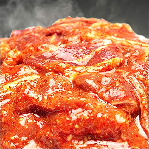 ジンギスカン 肉 旨辛 味付き 1kg (肩肉/冷凍) 業務用 羊肉 BBQ 北海道