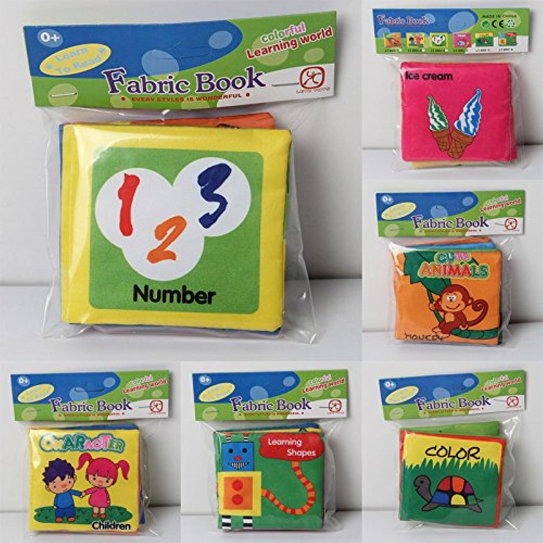 JWBOSS 乳幼児早期 教育図ベッド カラフルな動物のファブリックの形 布の本 インテリジェンス 開発の認識 おもちゃキッズ