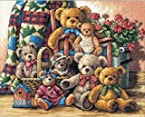 Teddy Bear Gathering The Gold Collection Counted Cross Stitch クロスステッチ 刺繍キット 35115