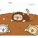 ねこねこ日本史 Android(960×854)待ち受け 「寒さと空腹は敵だ、旧石器時代!」