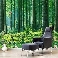 KAHSFA カスタム3D壁紙クラシック自然風景森林写真壁画リビングルームテレビソファ-250cmx175cm