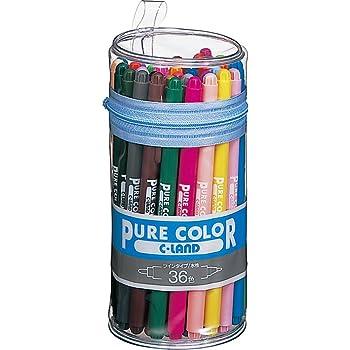 三菱鉛筆 水性ペン ピュアカラー 36色 PW100TPC36C
