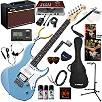 YAMAHA エレキギター 初心者 入門 人気のパシフィカ ギターの練習が楽しくなるCDトレーナー(エフェクターも内蔵)と人気のギターアンプVOX Pathfinder10が入った強力21点セット PACIFICA112V/SOB(ソリッドブルー)