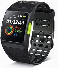 スマートウォッチ GPS 活動量計 ランニングウォッチ スポーツ Android Iphone対応 防水 カラータッチスクリーン 心拍計 睡眠記録 多機能歩数計 レディース メンズ
