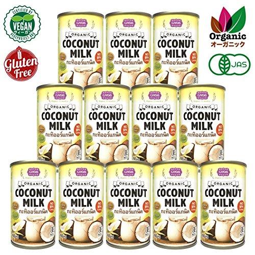 チブギス 有機JAS認定 オーガニック ココナッツミルク ( 便利な使い切りタイプ ) 160ml x 12缶 お得に箱買い オーガニック グルテンフリー ヴィーガン BPA対策 プルトップ缶 USDA EU認証取得 タイ産 CIVGIS Organic